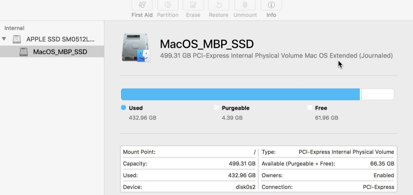 How to Reformat an APFS drive as HFS+ with Disk Utility