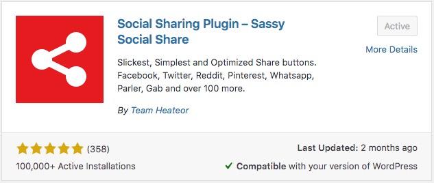 Social Sharing Plugin – Sassy Social Share