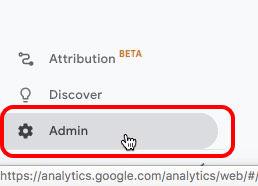 Google Analytics Admin Gear