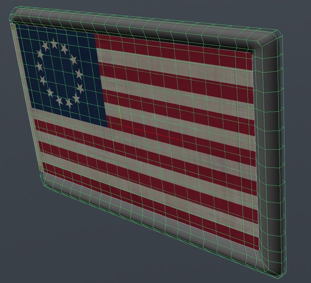 ClothFX Collision Edge Bumper on Flag