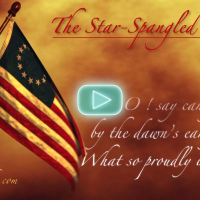 The Star Spangled Banner 3D Animated Waving Flag