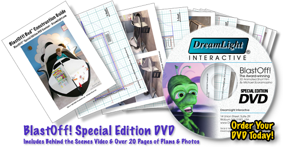 Award-winning 3D Animated Short Film-BlastOff! Special Edition DVD with BlastOff! Bed-GuideBook