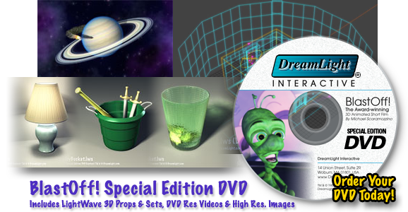 BlastOff! Special Edition DVD Includes LightWave 3D Props & Sets, Videos & Images