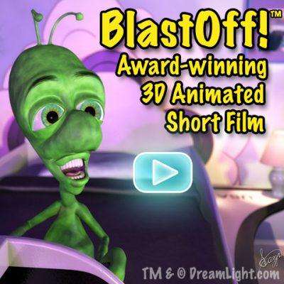 Award-winning 3D Character Animation CGI Short Film-BlastOff!