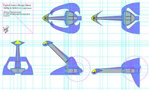 CyberCruiser Space Ship Initial Design Sheet