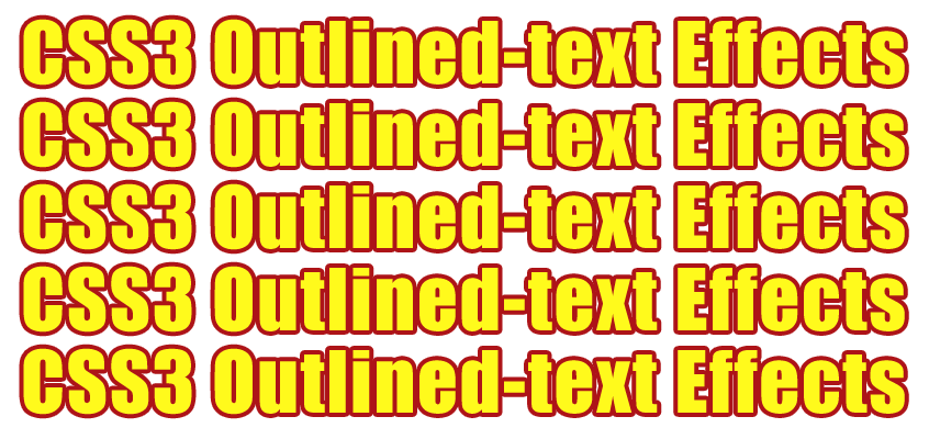 CSS Outlined Text Effects