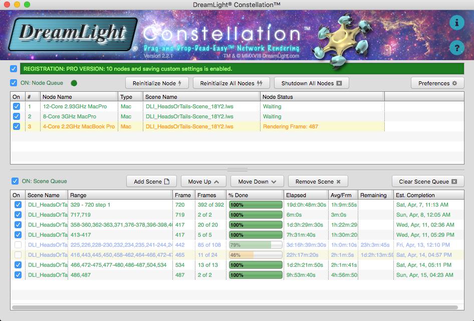 DreamLight Constellation Network Rendering