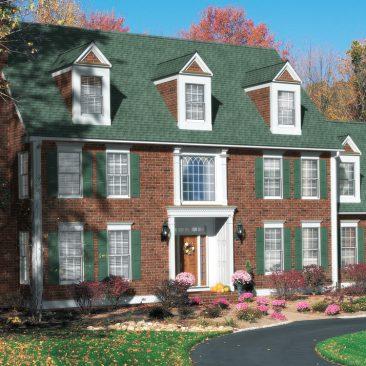 3D CGI Architectural Visualization Illustration - 3D House, Site Photo Background Composite - Brick Green