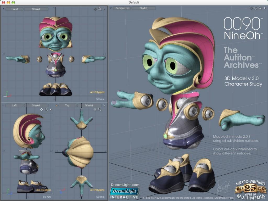 3D Character Design - 0090 v3 - 3D Character Model Study