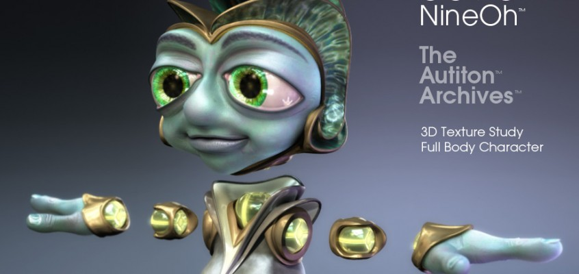 3D Character Design - 0090 v3 - 3D Character Texture Render Study - 3D character animation in 3D CGI short film