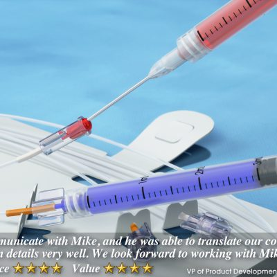 Animated Medical Device Training Videos - Filling extension line luer from syringe.