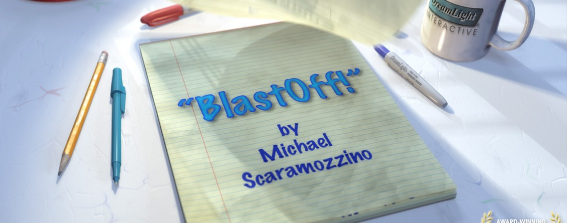 Award-winning 3D Animated Short Film-BlastOff! Title Michael Scaramozzino