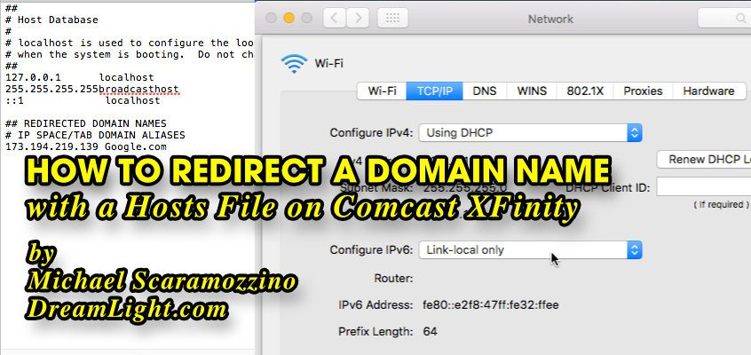 How to Redirect a Domain Name in the Hosts File on Comcast