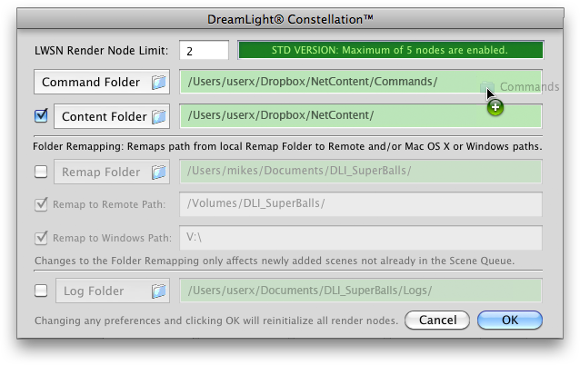 DreamLight Constellation Dropbox Mac OS X Preferences
