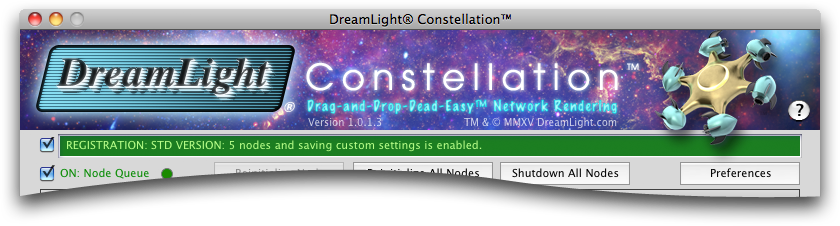 DreamLight Constellation Header - DreamLight Constellation Preferences Settings