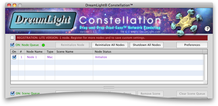 DreamLight Constellation Initializing Node