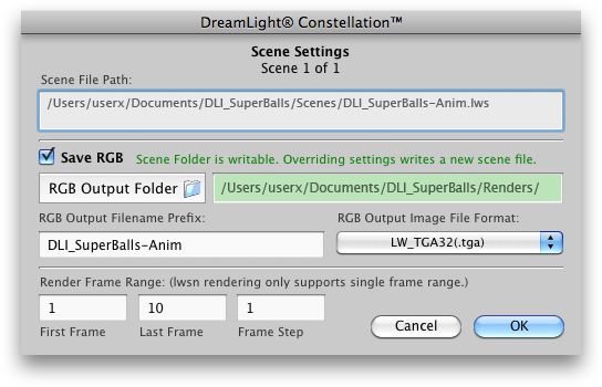 DreamLight Constellation Scene Panel
