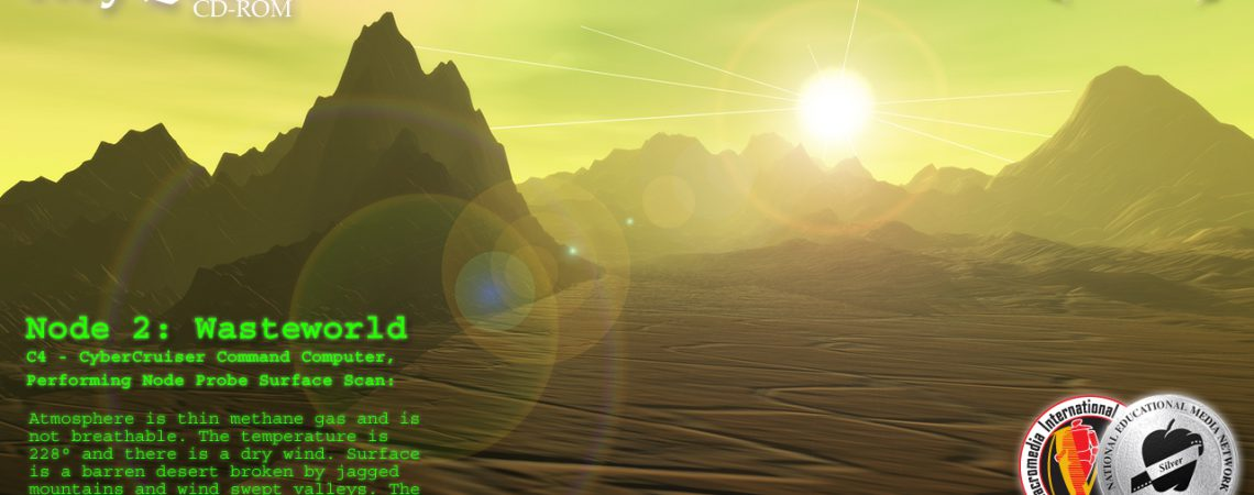 Alien Landscapes - Desert Scene - 3D Interactive Edutainment Multimedia