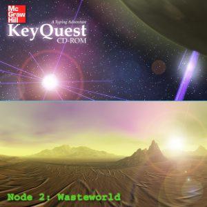 Wasteworld - Space Scene - Alien Landscape Panorama - Desert Planet - 3D Interactive Multimedia CD-ROM
