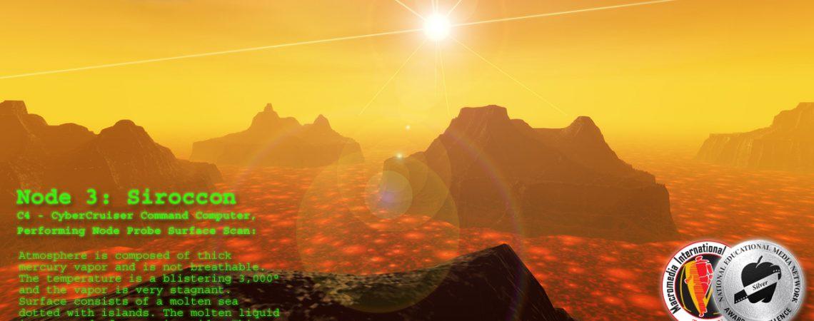 Alien Landscapes - Lava Pool - Lava Lake - 3D Interactive Edutainment Multimedia