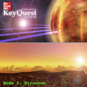 Siroccon - Space Scene - Alien Landscape Panorama - Lava Planet - 3D Interactive Multimedia CD-ROM