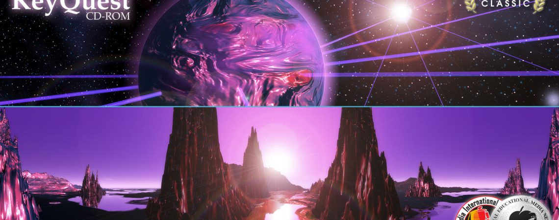 Silicasphere - Space Scene - Alien Landscape Panorama - Purple Planet - 3D Interactive Multimedia CD-ROM