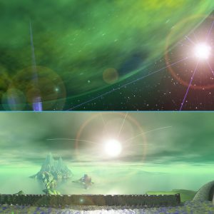 Digitdomain - Space Scene - Alien Landscape Panorama - Swamp Planet - 3D Interactive Multimedia CD-ROM