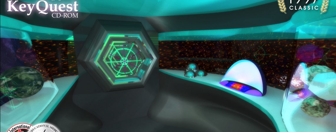 3D Space Ship - Science Station - 3D Interactive Multimedia - KeyQuest CD-ROM