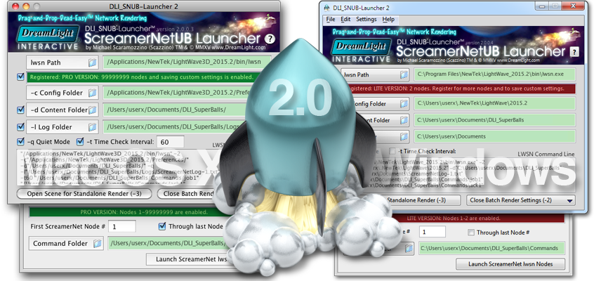 DreamLight ScreamerNet UB Launcher 2.0 NOW for Mac OS X and Windows