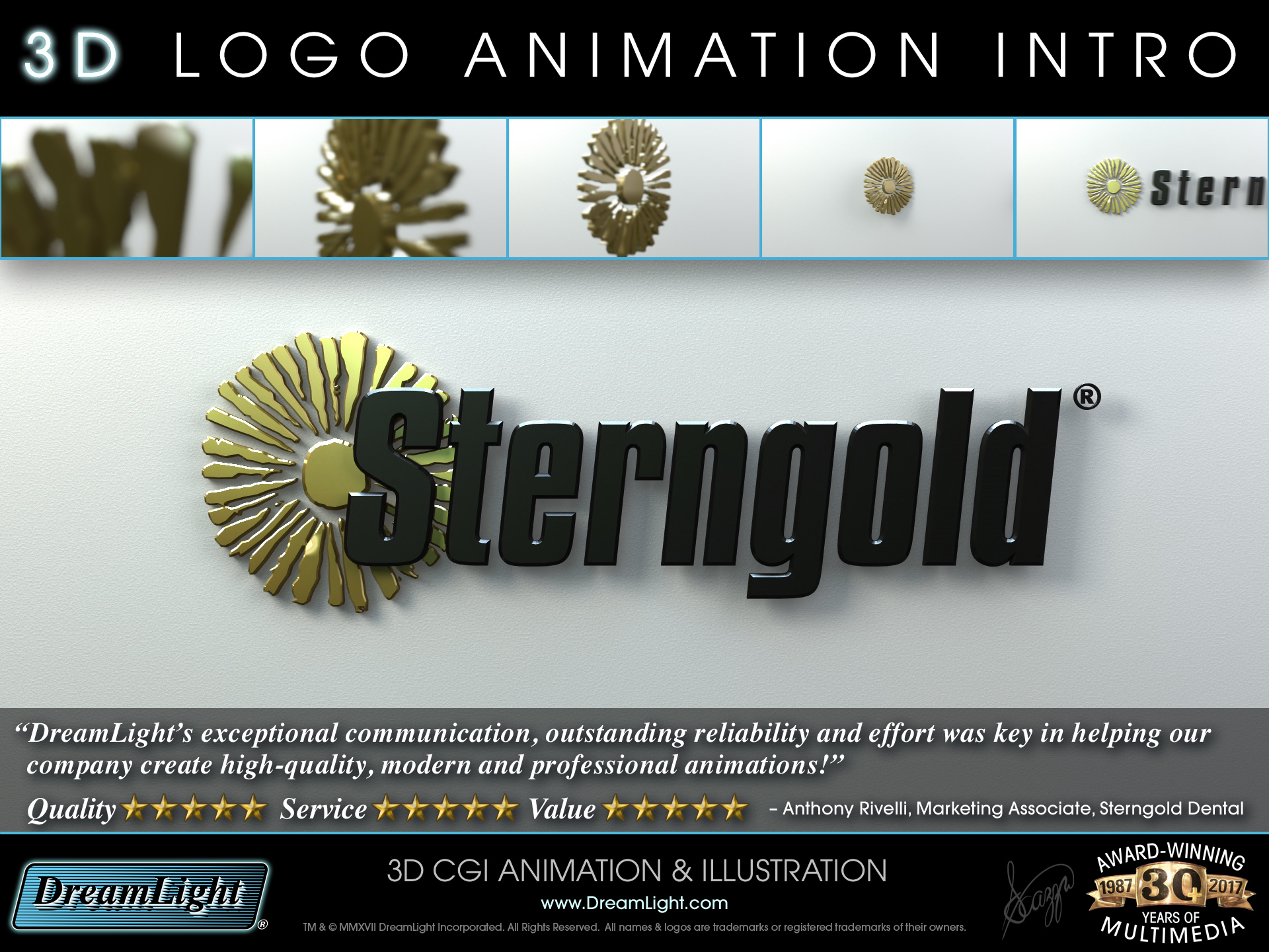 3D Logo Animation - Sample Sheet