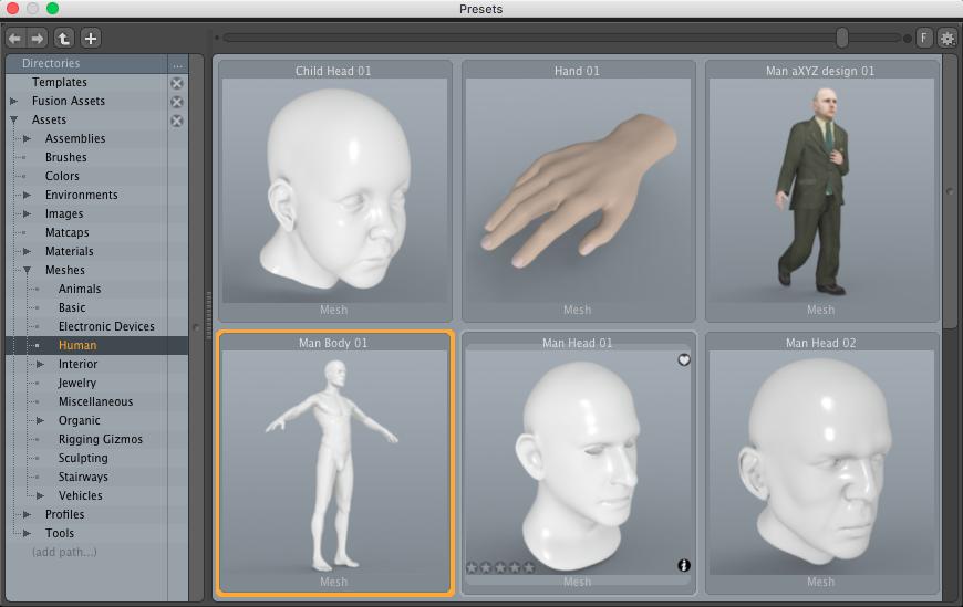 Default Modo Human Mesh 3D Model