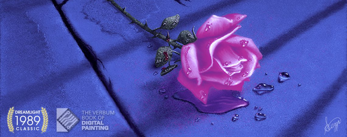 DreamLight Classic Digital Painting - The Rose