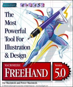 Macromedia FreeHand Cover Design Mockup - Software Identity Design