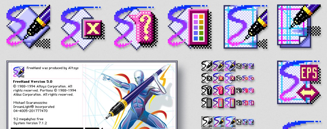 Macromedia FreeHand Splash and Icon Design