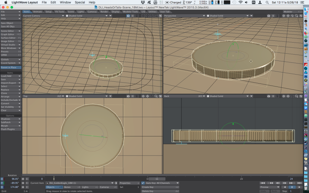 Gimbal Lock - Causing Jitter in Bullet Dynamics - how to animate falling coins with Bullet Dynamics
