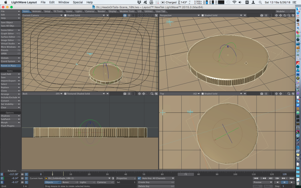 Gimbal Lock Fixed - Avoiding Jitter in Bullet Dynamics - how to animate falling coins with Bullet Dynamics