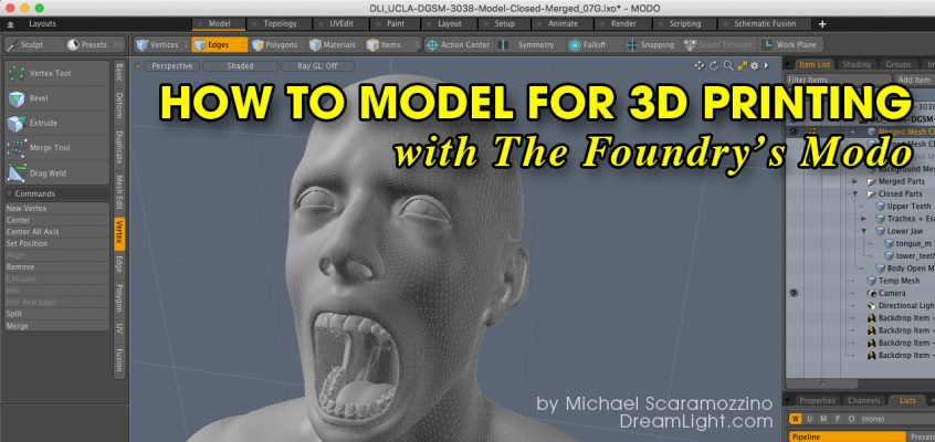 How to Model for 3D Printing with Modo