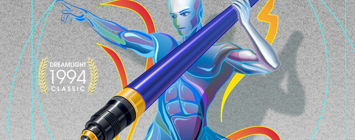 FreeHand Javelin Thrower DreamLight Classic Vector Illustration