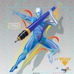 FreeHand Javelin Thrower DreamLight Classic Vector Illustration