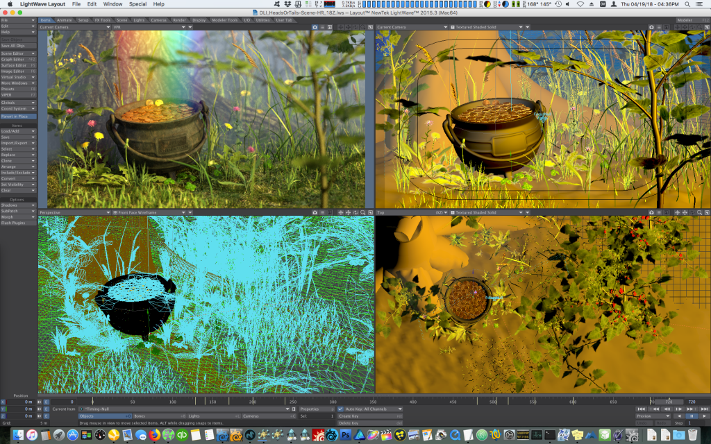 Exterior scene setup in LightWave 3D Layout