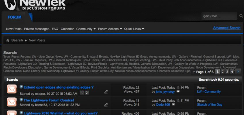 How to Search for New Posts in Specific vBulletin Forums like LightWave 3D