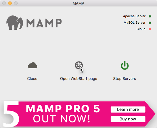 MAMP Open Web Start Page - How to Copy a Live WordPress Website to a Local Mac