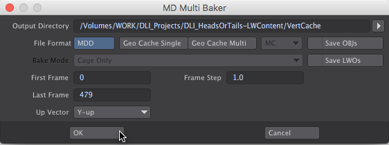 LightWave 3D MD Multi-Baker - how to animate falling coins with Bullet Dynamics