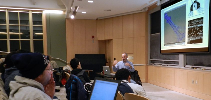 Michael Scaramozzino giving a 3D Animation lecture to the MIT