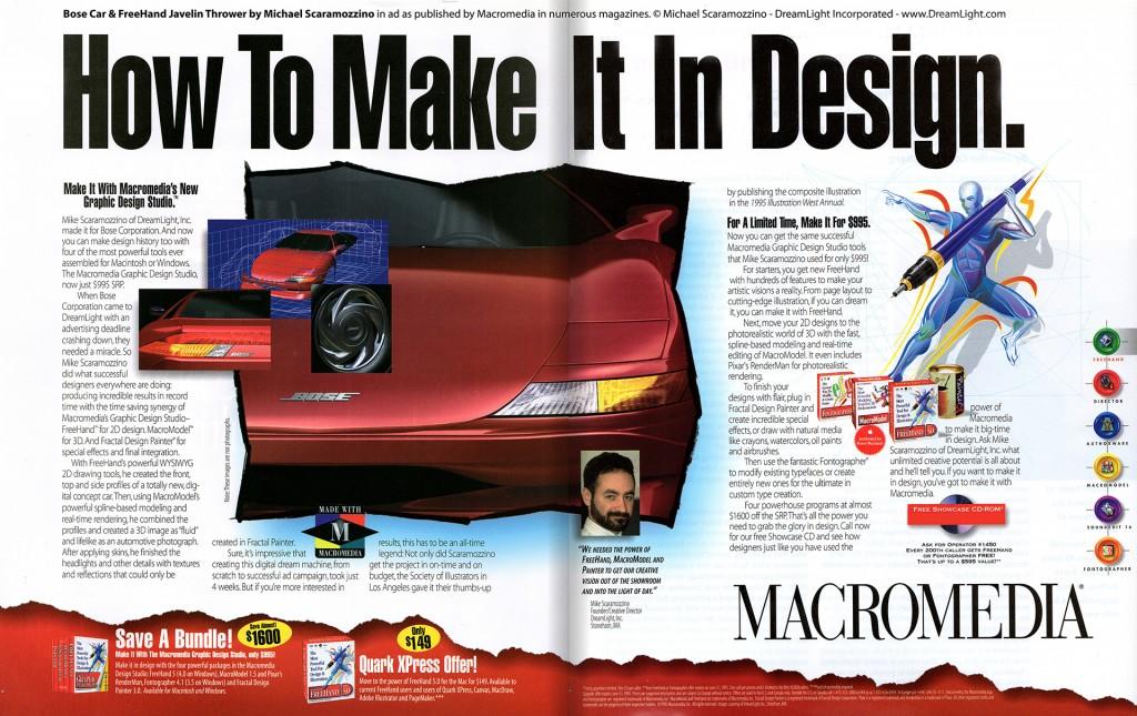 Awards & Publications - Macromedia Ad - Scaramozzino - How To Make It In Design.