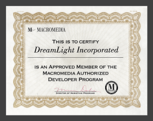Macromedia Authorized Developer - DreamLight Incorporated