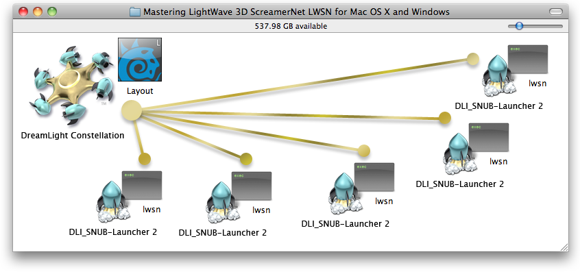 Mastering LightWave 3D ScreamerNet LWSN for Mac and Windows On Mac OS X & Windows with DreamLight Constellation & DLI_SNUB-Launcher