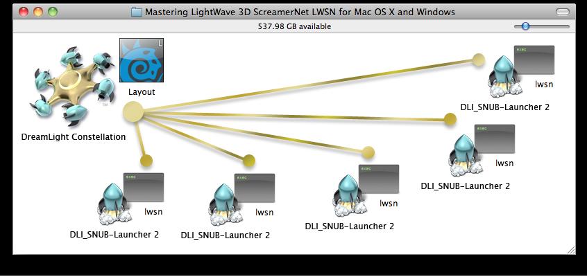 Mastering LightWave 3D ScreamerNet LWSN for Mac and Windows On Mac OS X & Windows with DreamLight Constellation & DLI_SNUB-Launcher