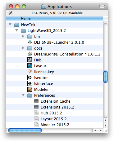 Mac OS X Alternative LightWave 3D Config Folder Preferences