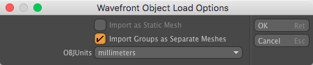 Modo OBJ File Import Options